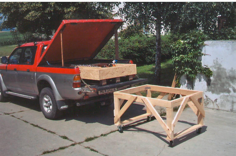 ideen aus holz fahrbare werkzeugkiste und pickup plane. Black Bedroom Furniture Sets. Home Design Ideas