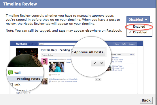 How to stop people tagging in facebook