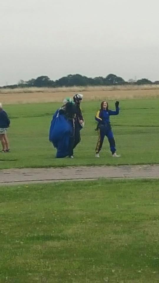Dani Johanna's tandem skydive for Mind Charity