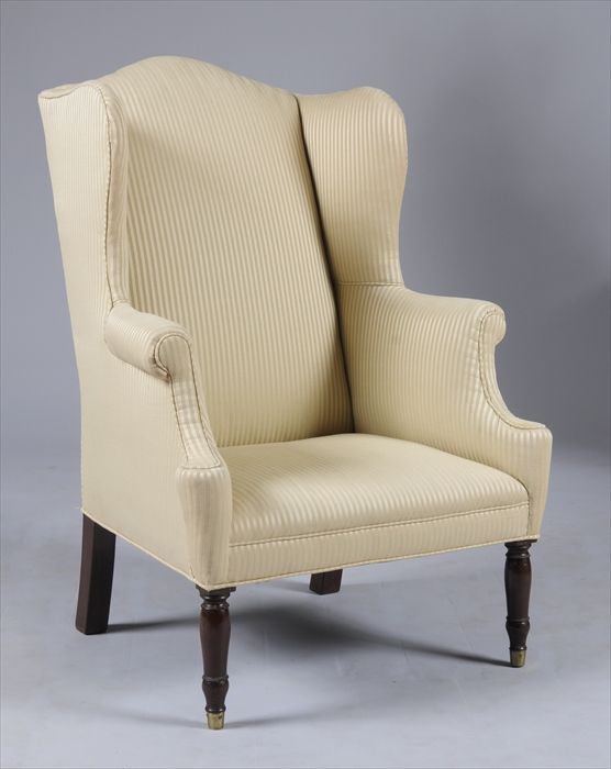 darryl carter often uses a wing chair of his own design as in the first photo but auctions often offer wing chairs and this 19th century victorian version
