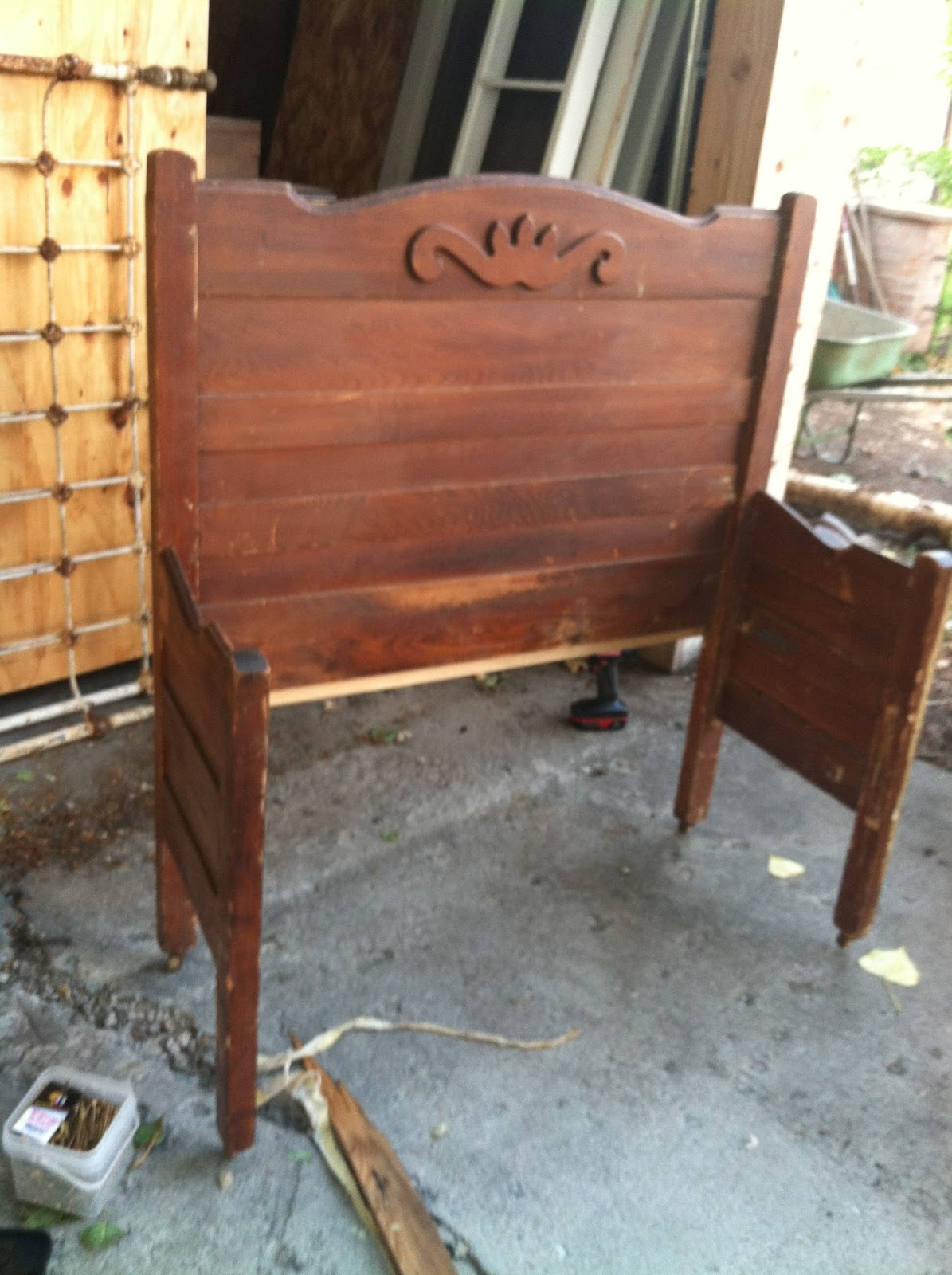 Headboard Bench Plans Pollyanna Reinvents Bed To Bench Diy