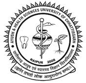 Ayush Health Sciences University chhattisgarh result 2013