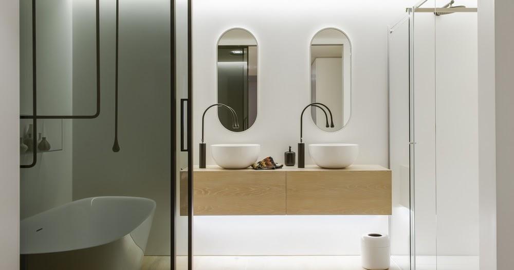 Minosa clean simple lines slick bathroom design by minosa for Bathroom design awards 2013