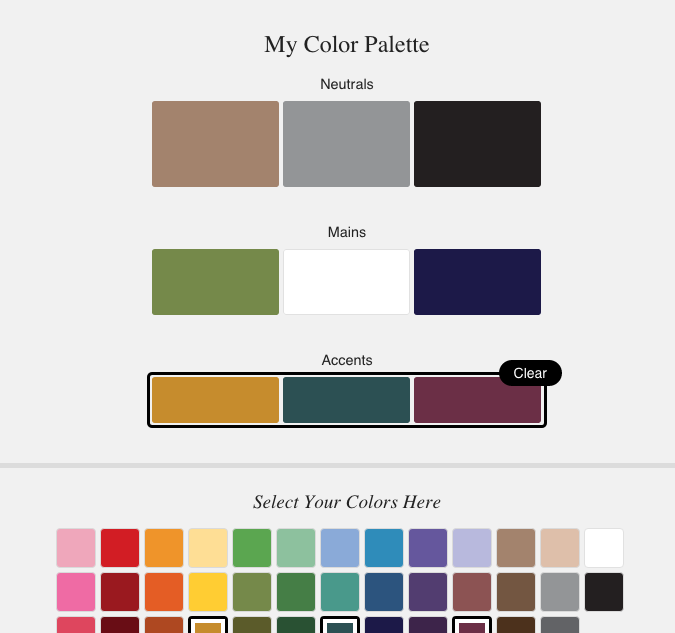 Choosing Wedding Colors Tool: Putting Me Together: Tool For Building A Personalized