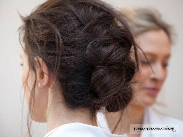 peinados con trenzas 2015 recogidos