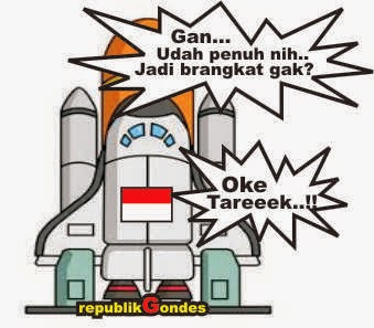 gambar kartun cerita anekdot lucu pesawat luar angkasa Indonesia
