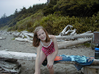 Chris Leyerle's autistic daughter, camping at Shi Shi Beach