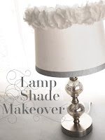 Lamp Shade DIY Makeover Ruffles