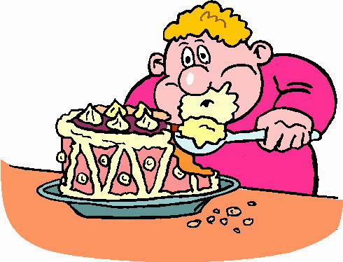 Enjoying Eating Too Much Food Clipart