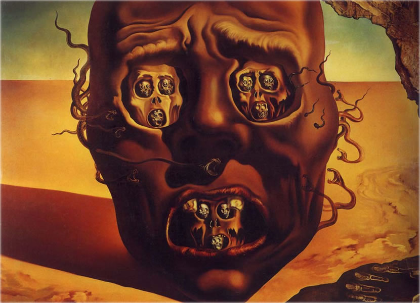 The Impact Of War The Face Of War By Salvador Dali