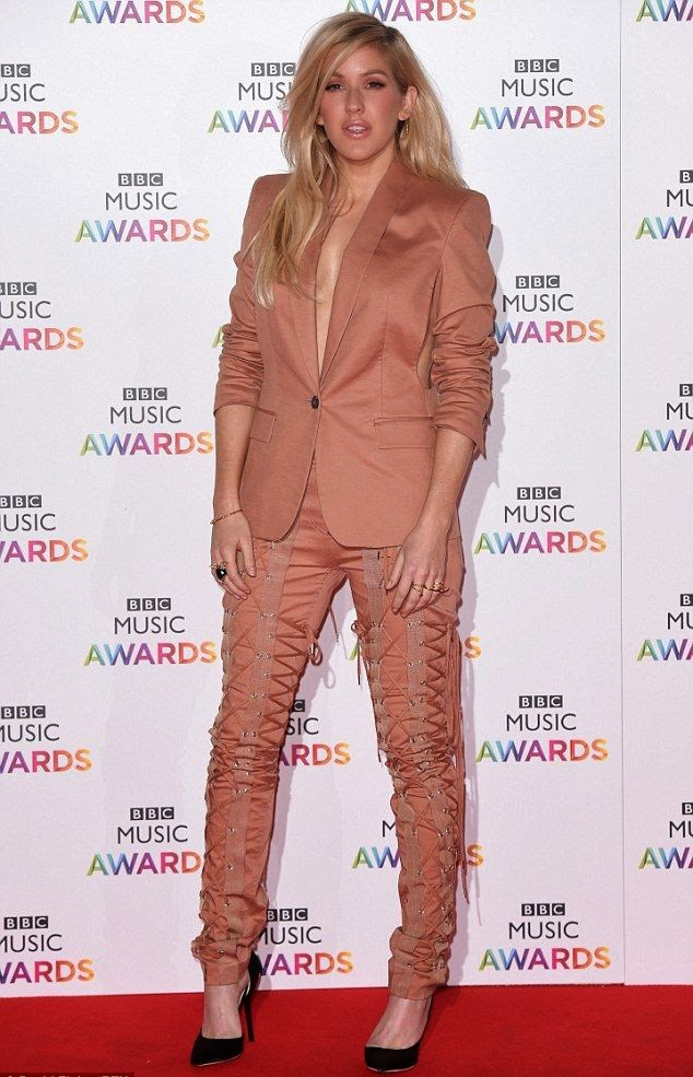 Ellie Goulding strolled to the red carpet of the Inaugural BBC Music Awards at London, England on Thursday, December 11, 2014.