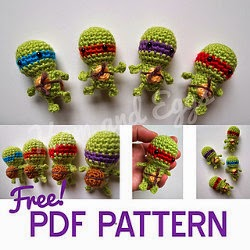 Free Crochet Pattern Teenage Mutant Ninja Turtles : 2000 Free Amigurumi Patterns: Tiny Turtles Teenage Mutant ...