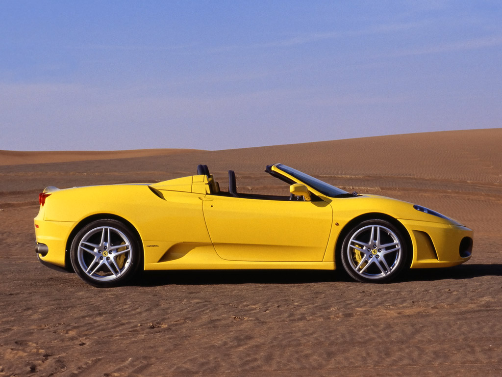 International Fast Cars Ferrari Spider Yellow