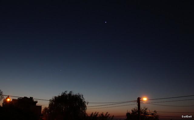 Vénus et Jupiter dans un ciel de matin