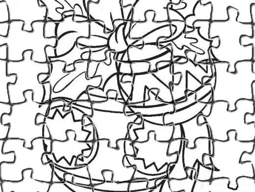 Desenho como desenhar Quebra cabeça festa de natal para recortar pintar e colorir