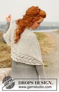 Gratis strikkeoppskrift på sjal