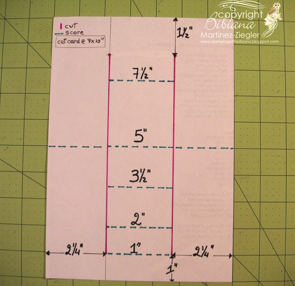 instructions how to double center step card