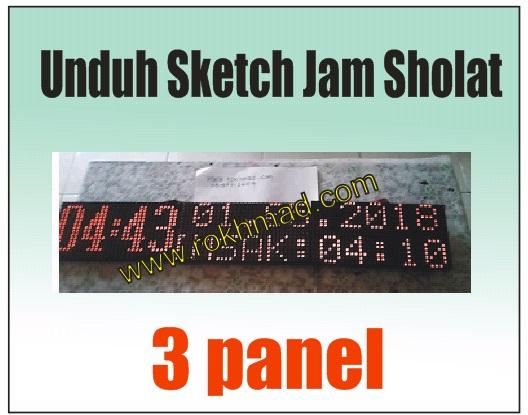 Sketch Jam Sholat 3 Panel