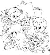 Desenho de Volta às Aulas para Colorir (desenho de volta aulas para colorir dibujos ideia criativa )