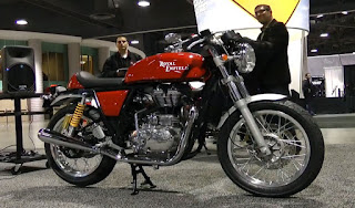 Royal Enfield Cafe Racer from bike show in Seattle