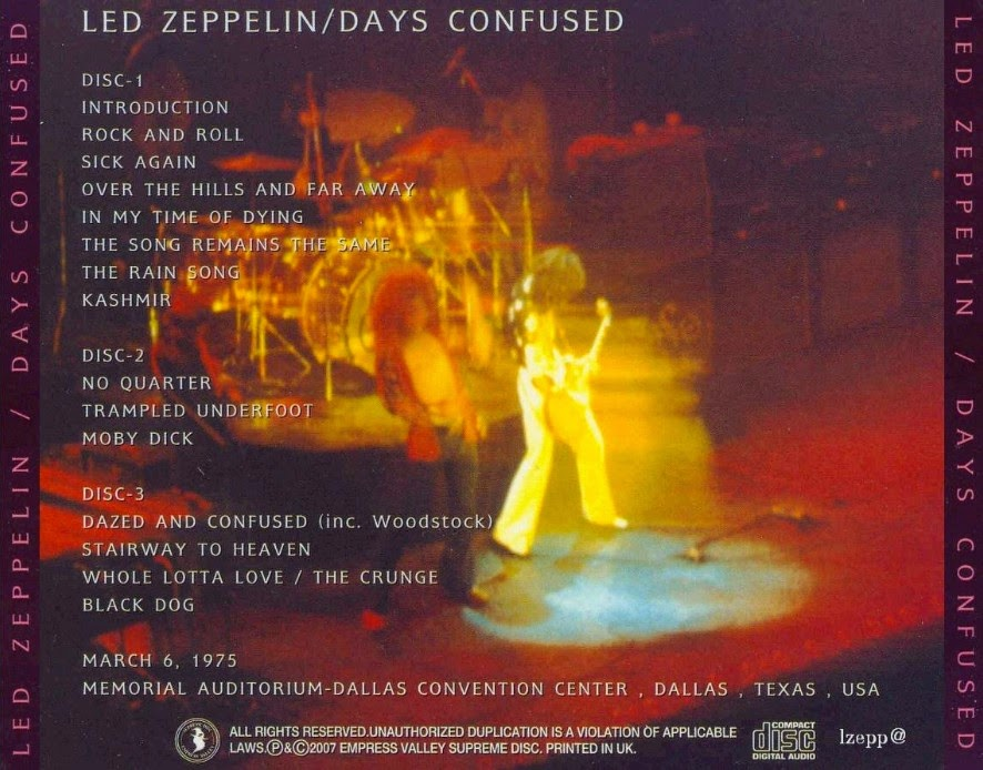 The Clock That Went Backwards: Led Zeppelin - 1975-03-05 - Dallas