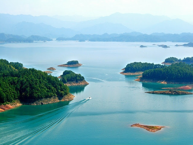 qiandao lake, shi cheng, submurged city