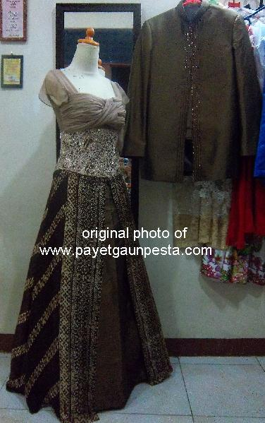 Model Gaun Pesta Batik
