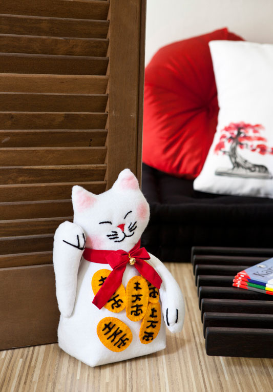 Adesivo De Parede Infantil Nuvem ~ Lily Baby Shop Gatinho Japones Manekineko Cultura