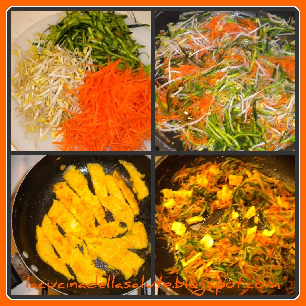 La cucina della salute: Spaghetti di riso saltati con verdure