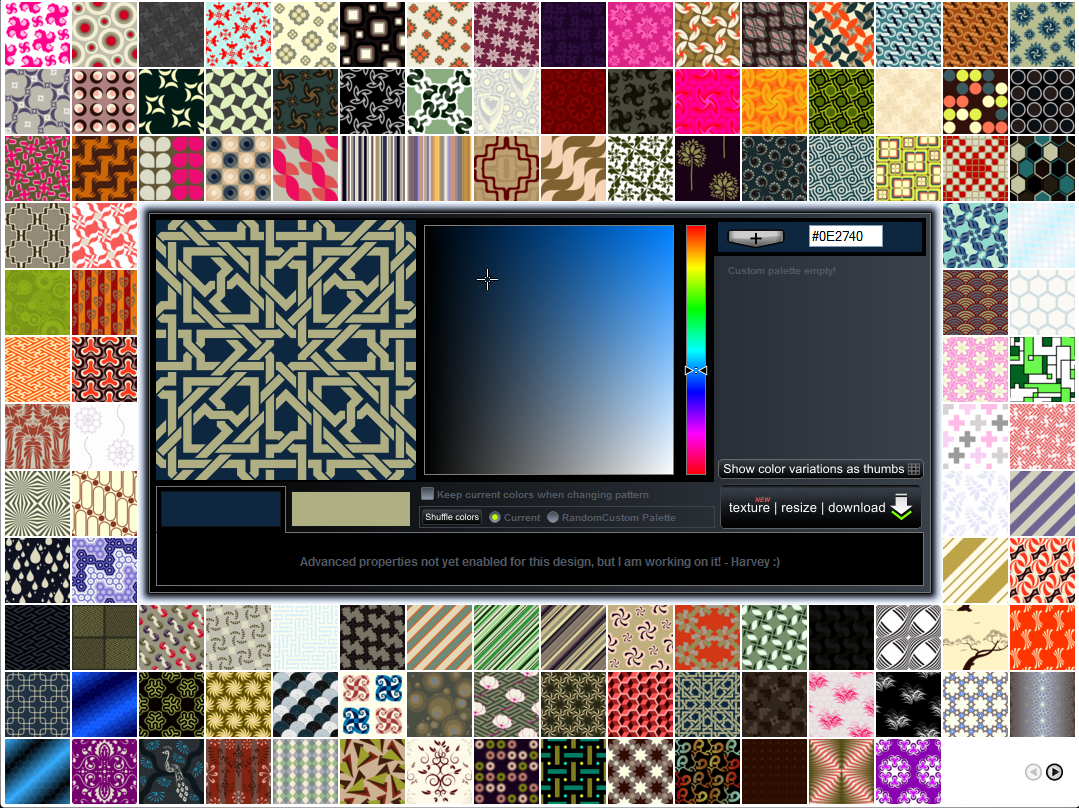 Creating textures with patterncooler Free online graphic design software