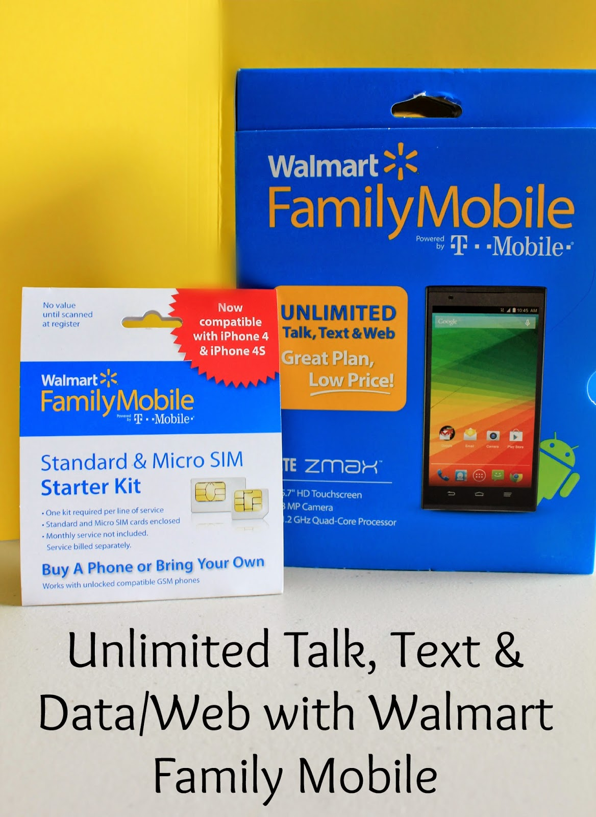 Unlimited Talk Text and Data/Web with Walmart Family Mobile #Thankful4Savings #ad