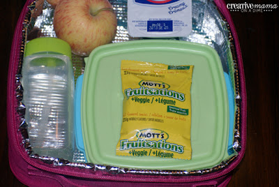 Mott's Fruitsation + Veggie - Fruit and veggie treat for their school lunches
