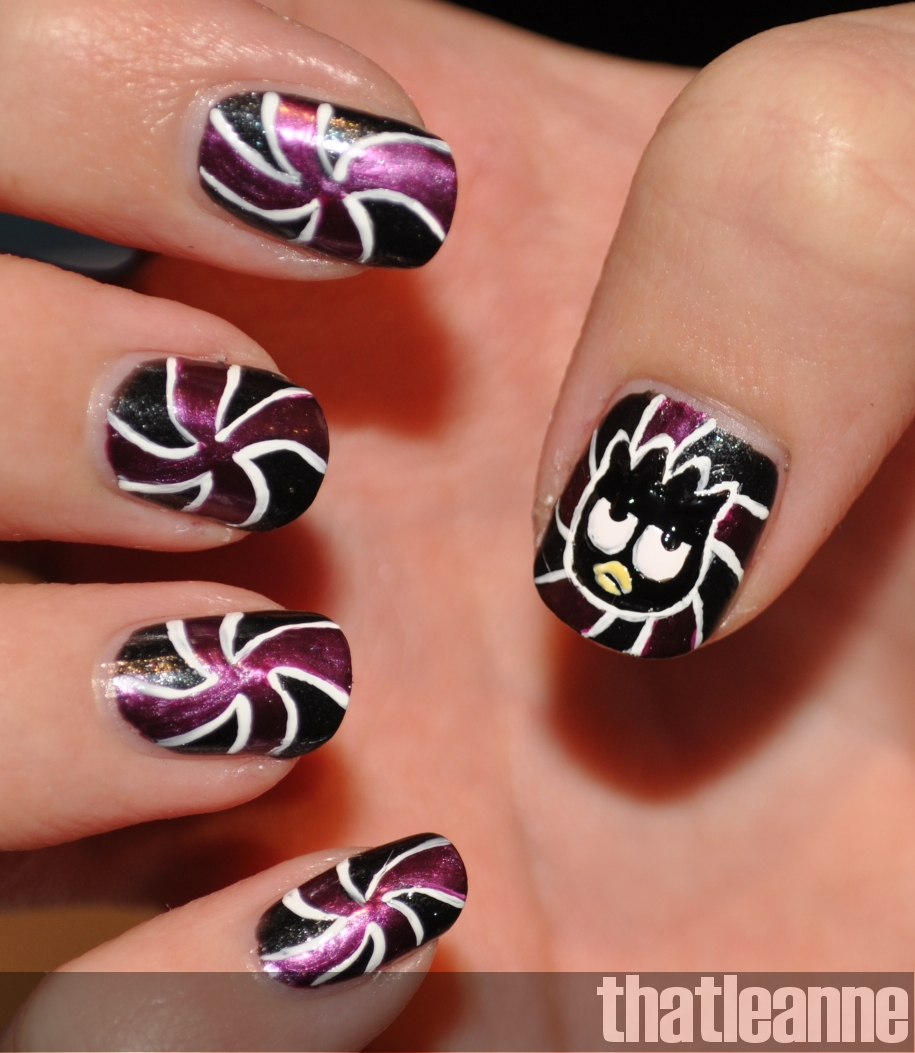 Thatleanne Chococat Nail Art: Thatleanne: Badtz Maru Nail Art