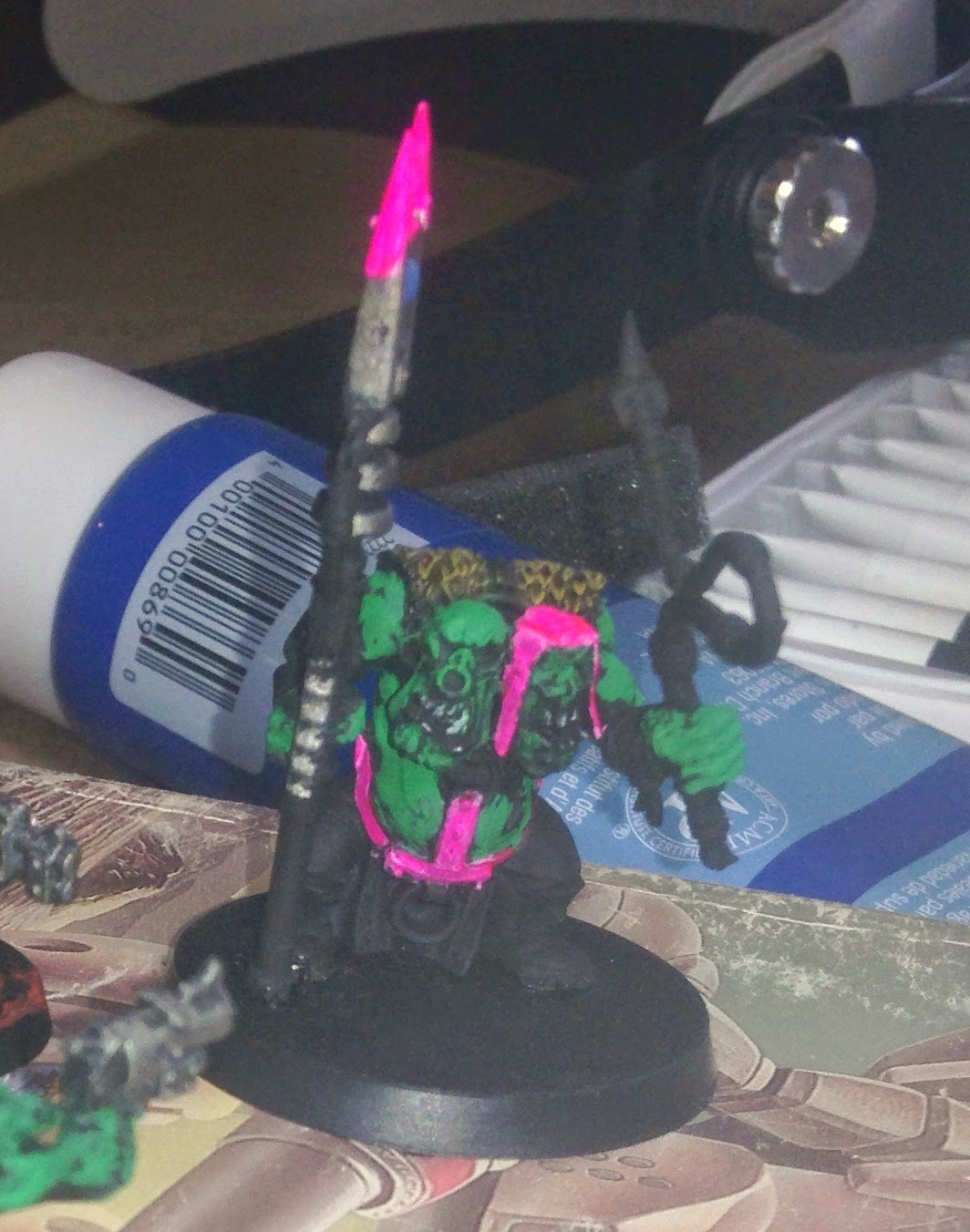 Warhammer 40K pink orks two heads Orkys