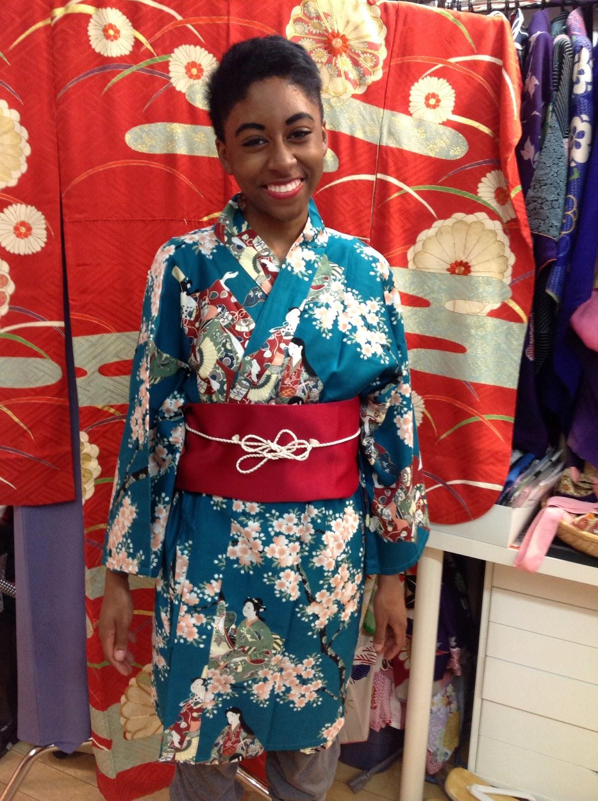 Turquoise kimono from Kimono House NY