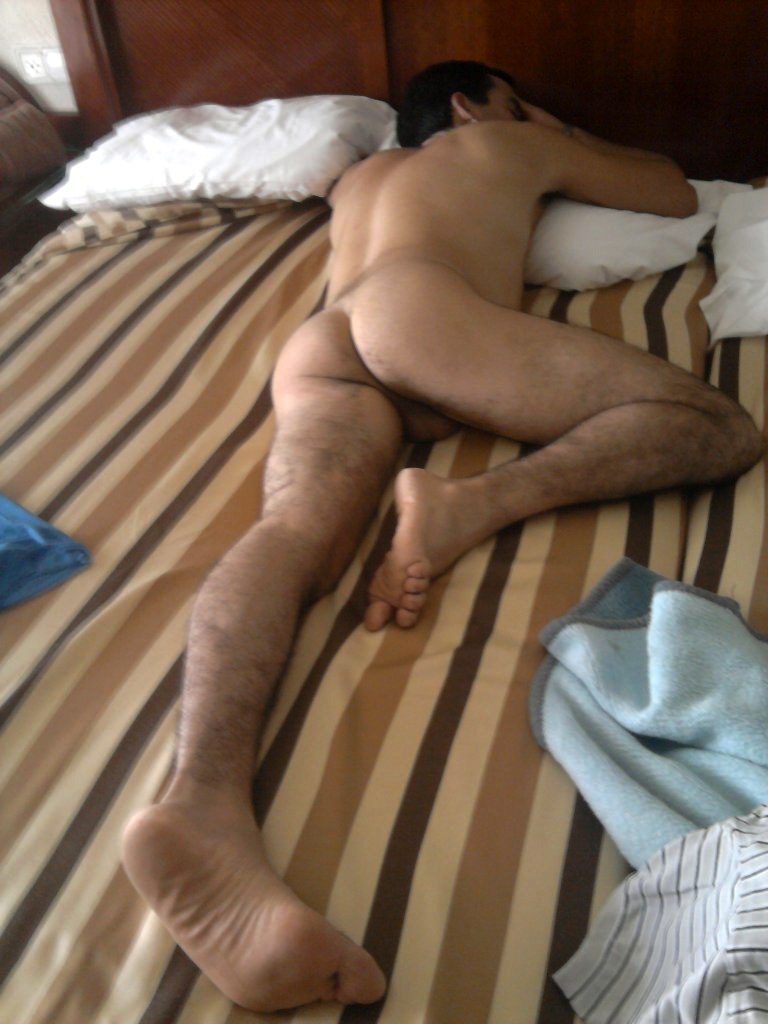 naked ass male sleeping