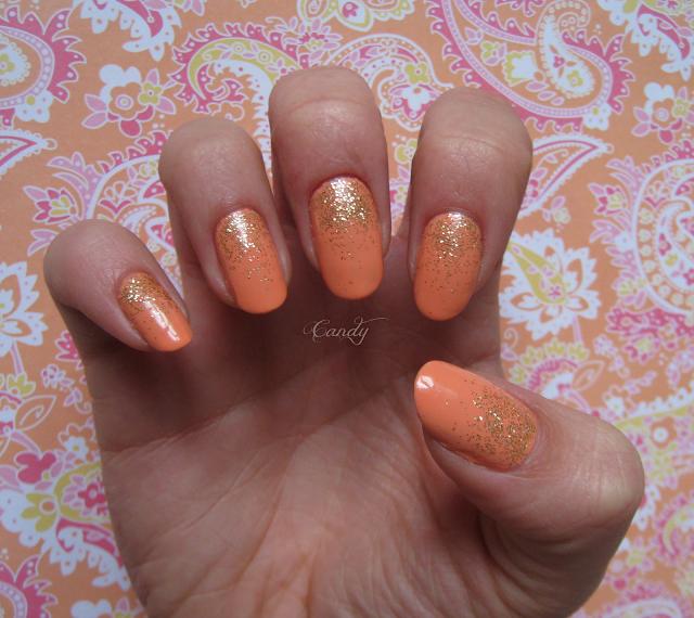 Peach Nail Polish Designs