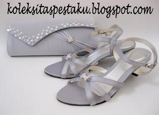 Tas Pesta Sandal Terbaru Silver