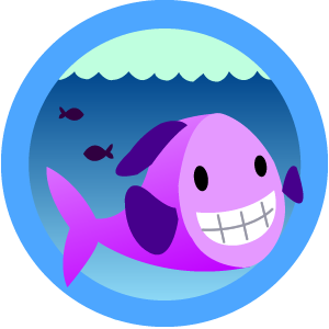 Happy Cartoon Fish Stock Photography - Image: 14427282