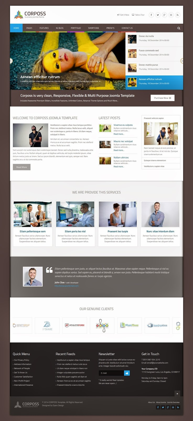 Responsive Business Joomla Template 2015