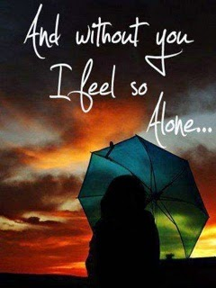 Without You I Feel Alone - Mobile Sad Love Wallpaper