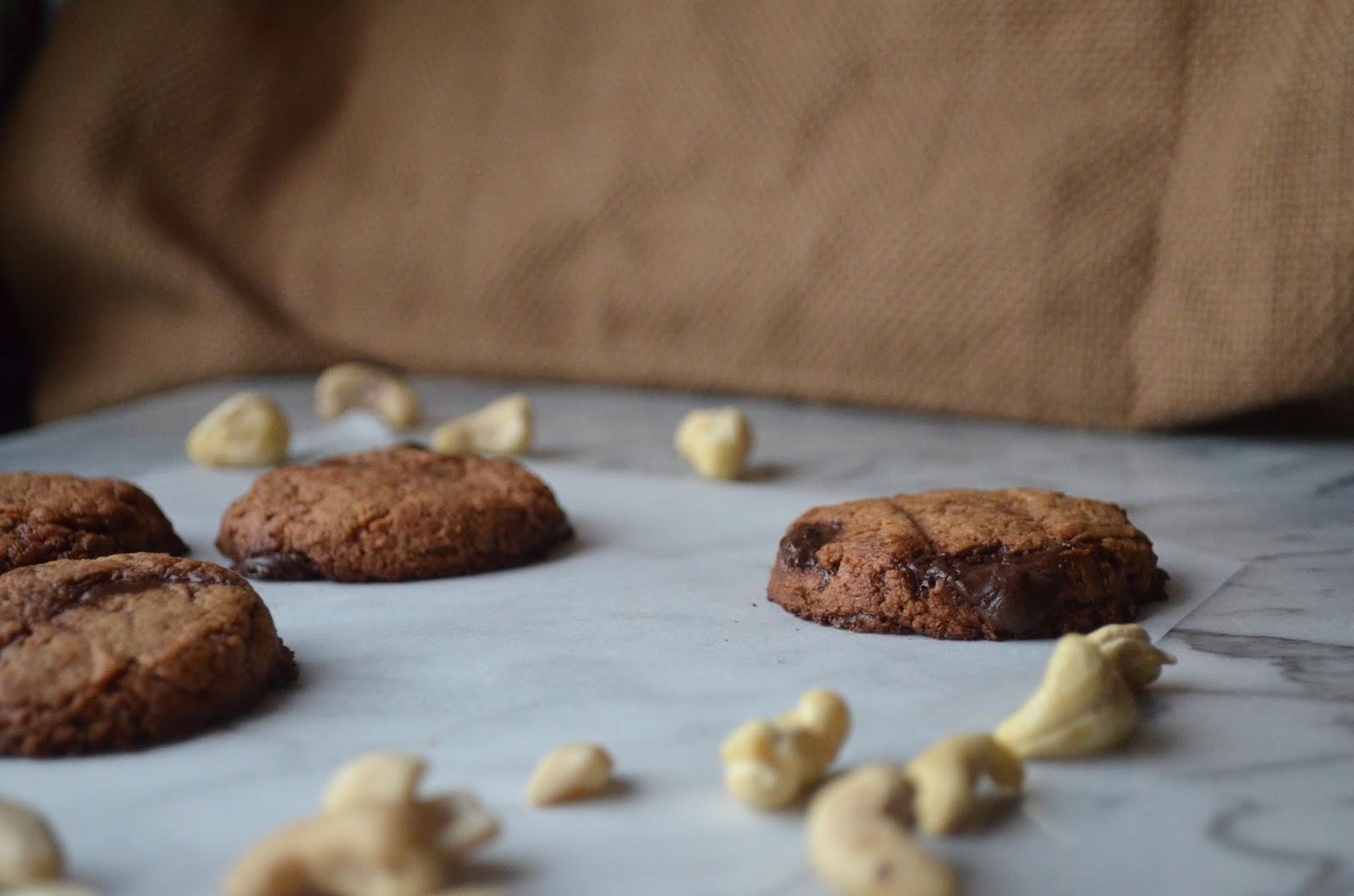 Chocolate Chip Cashew Cookies