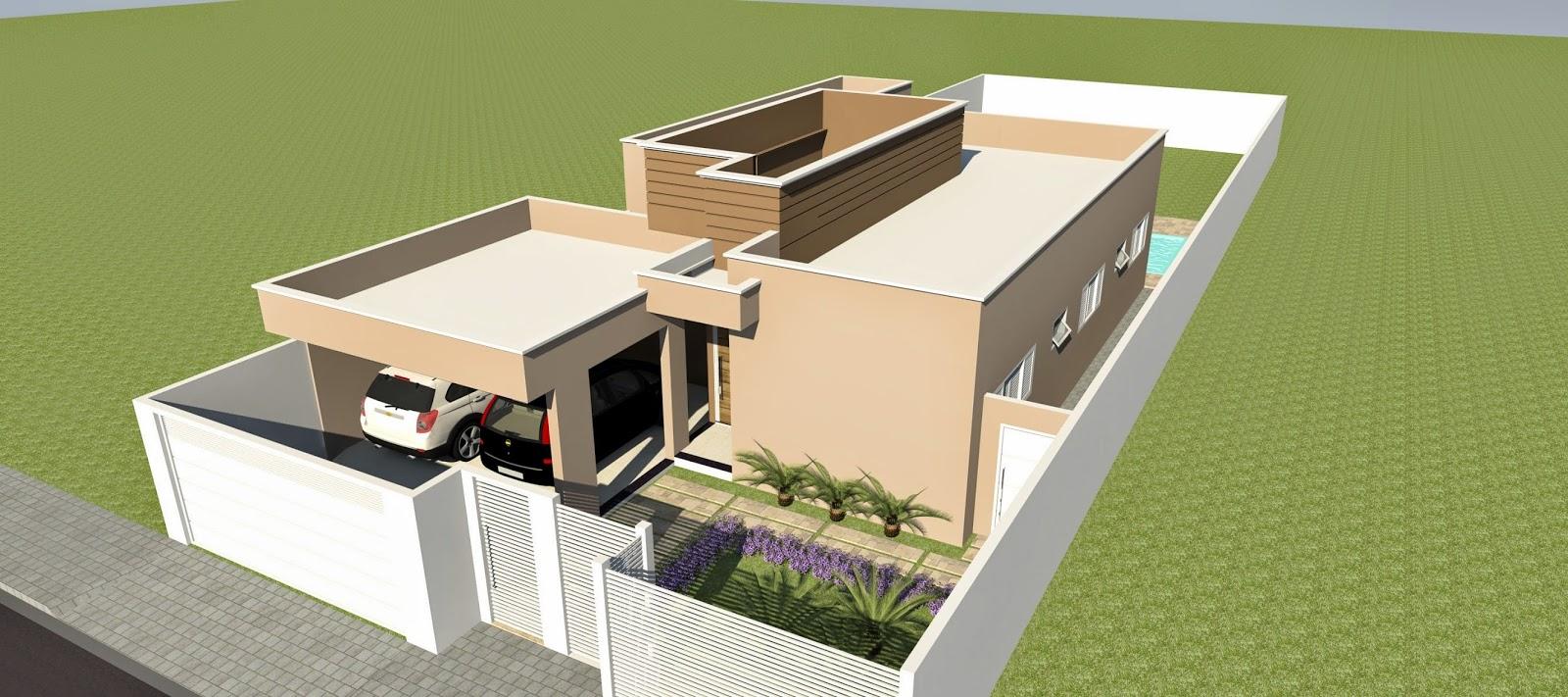 Fachada moderna com platibandas for Fachadas de casas modernas trackid sp 006