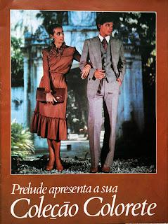 Encarte moda na revista Manchete de 1978 - Prelude