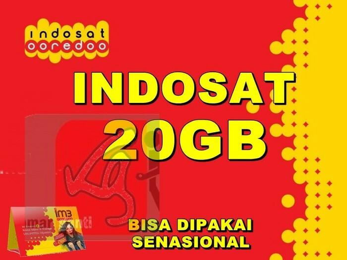 Ready Kartu Perdana Indosat Kuota 20,5GB  Harga Rp.53.500