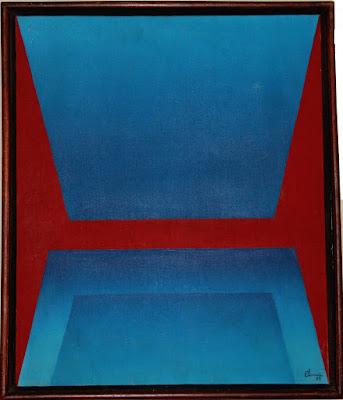 Geometria abstrata - óleo/tela - a tampa, arte de Elma Carneiro em 1989