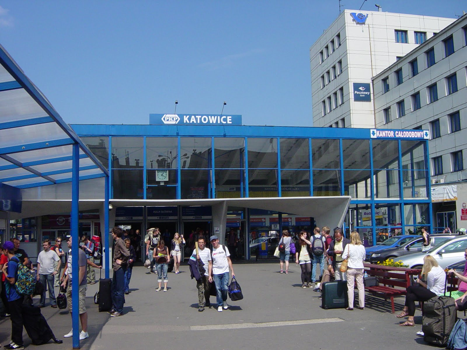 Katowice Poland  City new picture : temporary railway station in katowice poland august 2011 for more ...