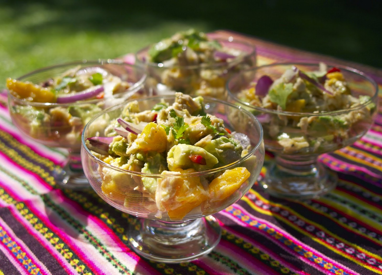 west african tuna salad inspired from tuna and mango ceviche  #french fridays with dorie