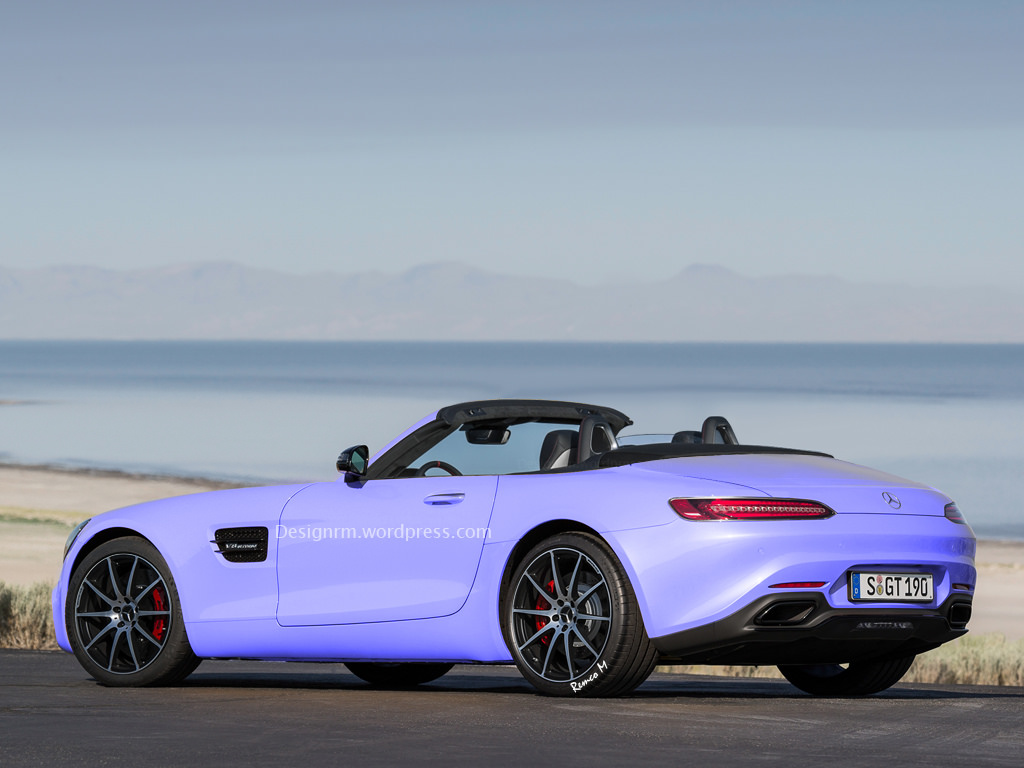 New mercedes amg gt gets a roadster rendition