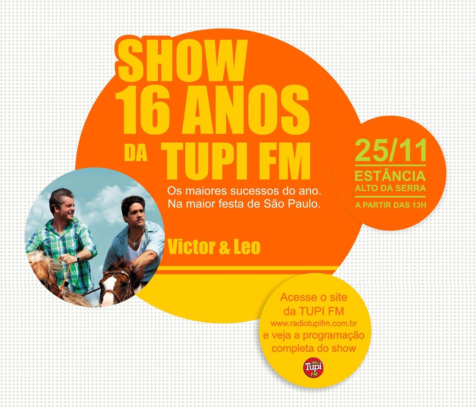 Blog Victor Chaves: Victor & Leo Estarão Hoje No Show De